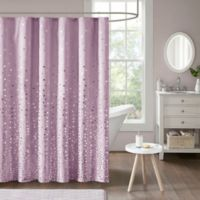 Intelligent Design Zoe Shower Curtain in Purple/Silver