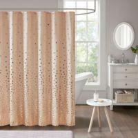 Intelligent Design Zoe Shower Curtain in Blush/Rose Golden
