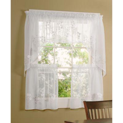 Commonwealth Home Fashions Hydrangea Kitchen Window Insert Valance