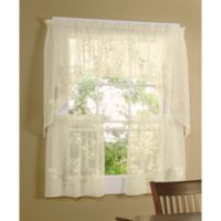 Commonwealth Home Fashions Hydrangea Kitchen Window Swag Valance