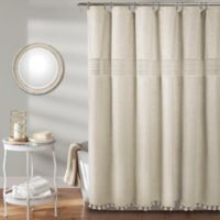 Delilah Lace 54-Inch x 78-Inch Shower Curtain in Neutral
