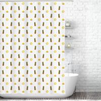 Traveling Twins Pineapples Shower Curtain Liner