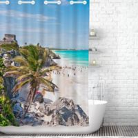 Traveling Twins Mexico Hook Free Shower Curtain