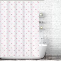 Cherry Blossoms Shower Curtain Liner in White/Pink