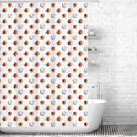 Coconuts Shower Curtain Liner In White Brown