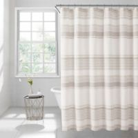 Lana Stripe 54-Inch x 78-Inch Shower Curtain in Taupe