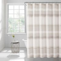 Lana Stripe 72-Inch Square Shower Curtain in Taupe