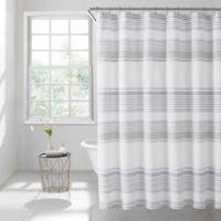 Lana Stripe 72-Inch x 96-Inch Shower Curtain in Light Blue