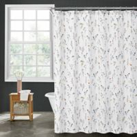Sophie Floral 72-Inch x 84-Inch Shower Curtain in White