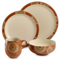 Denby Chilli 4-Piece Place Setting in Deco/Cream