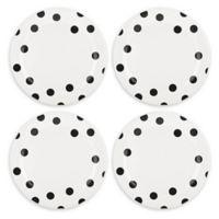 kate spade new york All in Good Taste Deco Dot™ Dinner Plates in Black (Set of 4)