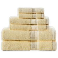 Home Resort Extravagant 6-Piece Bath Towel Set in Yellow