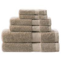 Home Resort Extravagant 6-Piece Bath Towel Set in Taupe