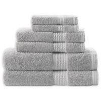 Home Resort Extravagant 6-Piece Bath Towel Set in Grey