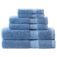 Home Resort Extravagant 6-Piece Bath Towel Set in Blue