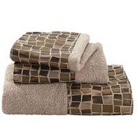Mosaic 3-Piece Towel Set in Bronze