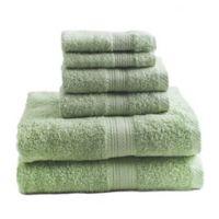 Signature 6-Piece Bath Towel Set in Green