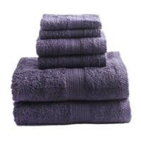 Signature 6-Piece Bath Towel Set in Purple