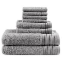 Madison Park Signature 8-Piece Mirage Towel Set in Charcoal