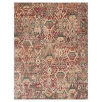 Loloi Rugs Javari 9'6 x 12'6 Abstract Area Rug in Berry/Ivory