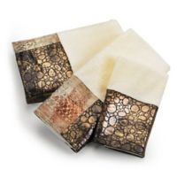 Zambia 3-Piece Bath Towel Set in Brown