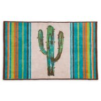 """HiEnd Accents Cactus 24"""" x 36"""" Accent Rug in Turquoise"""
