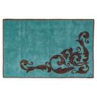 "HiEnd Accents 24"" x 36"" Wyatt Bath Rug in Turquoise"