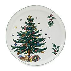 Nikko Christmas Giftware 11 1/2-Inch Hostess Plate  sc 1 st  Bed Bath \u0026 Beyond & Nikko Christmastime Dinnerware - Bed Bath \u0026 Beyond