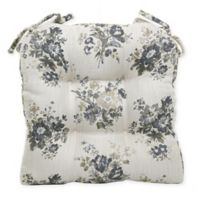 Bee & Willow™ Home Floral Chair Pad in Grey
