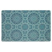 """Mohawk Home® Flowery Medallion 23"""" x 36"""" Kitchen Mat in Teal"""