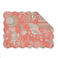 C&F Home Shells Placemats in Coral (Set of 6)