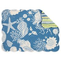 C;F Home Shells Placemats in Blue (Set of 6)