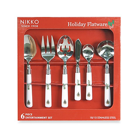 Nikko Christmas Flatware 6 Piece Set Bed Bath Amp Beyond