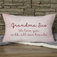 Grandchildren Fill Our Hearts Personalized Throw Pillow