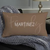 Family Photo Collage Personalized Throw Pillow