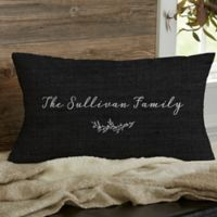 Farmhouse Floral Personalized Throw Pillow