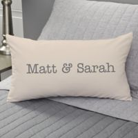 Write Your Own Romantic Expressions Personalized Throw Pillow