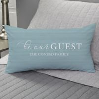 Be Our Guest Personalized Throw Pillow