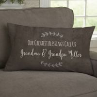 Our Grandchildren Personalized Throw Pillow