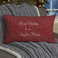 Christmas In Heaven Personalized Throw Pillow