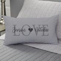 Elegant Couple Personalized Throw Pillow