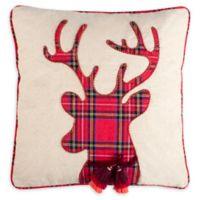 Safavieh Blitz Square Throw Pillow in Beige/Red