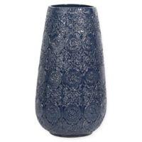 Steven Sabados S&C 15-Inch Ceramic Vase in Navy