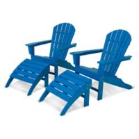 POLYWOOD® South Beach Adirondack 4-Piece Set in Pacific Blue