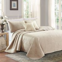 Sherry Kline Lux Embroidered Queen Quilt Set in Taupe