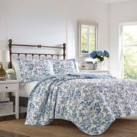 Laura Ashley® Aimee Delft Twin Quilt Set in Blue