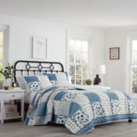 Stone Cottage Ludlow Full/Queen Quilt Set in Steel Blue
