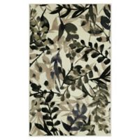 Mohawk Home® Tossed Watercolor Leaves 5' x 8' Area Rug in Green