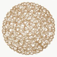 Design Imports Woven Round Placemats in Taupe (Set of 6)