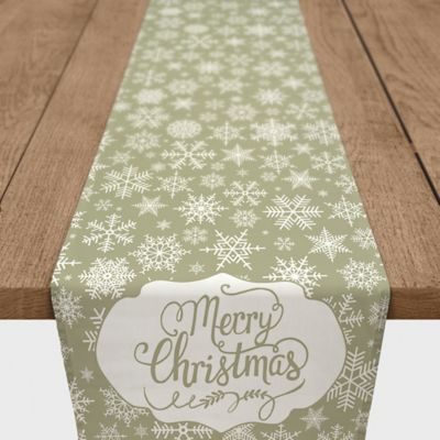 Snowflake 90 Inch Table Runner In Yellow
